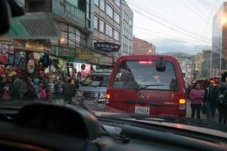 Crazy driving La Paz