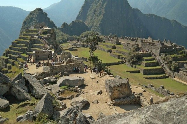 Thank God, there is a road blockade - Machu Pichu relaxed...